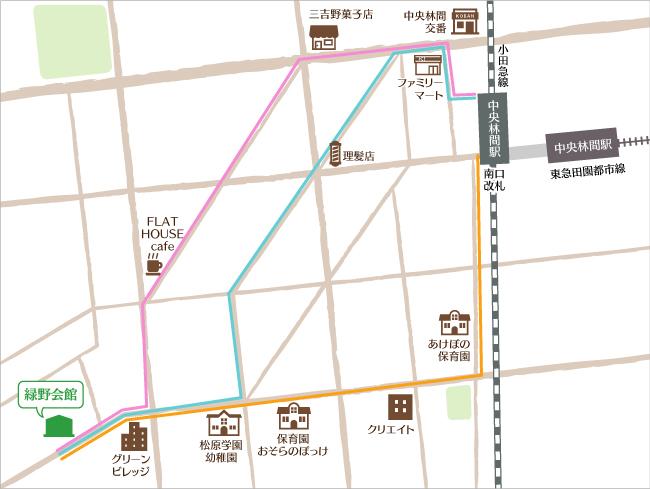 コミュニティセンター緑野会館 地図